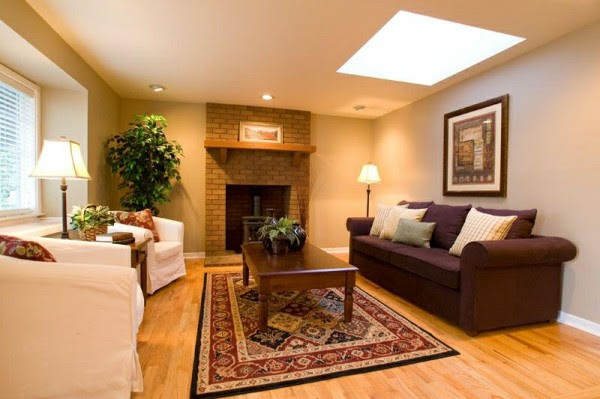 How to adorn room with warm color scheme     Interior ...