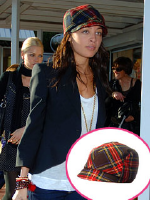 Nicole Richie wearing Eugenia Kim Muffy Plaid Cap