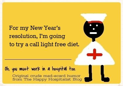 For my New Year's resolution, I'm going to try a call light free diet nurse ecard humor.