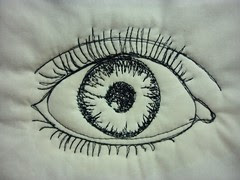 Thread sketched eye