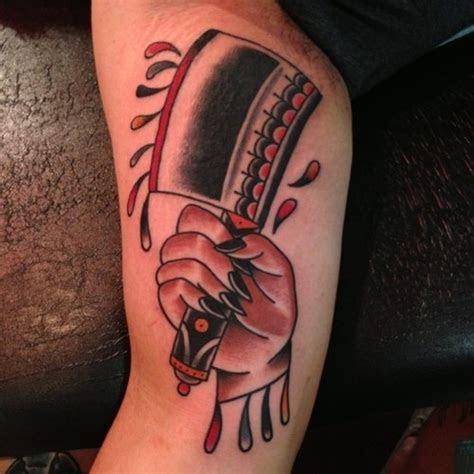 knife hand tattoo nick oaks