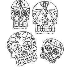 Coloriages Masques Mexicains Tête De Mort à Imprimer Frhellokidscom
