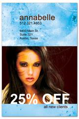PCS-1033 - salon postcard flyer