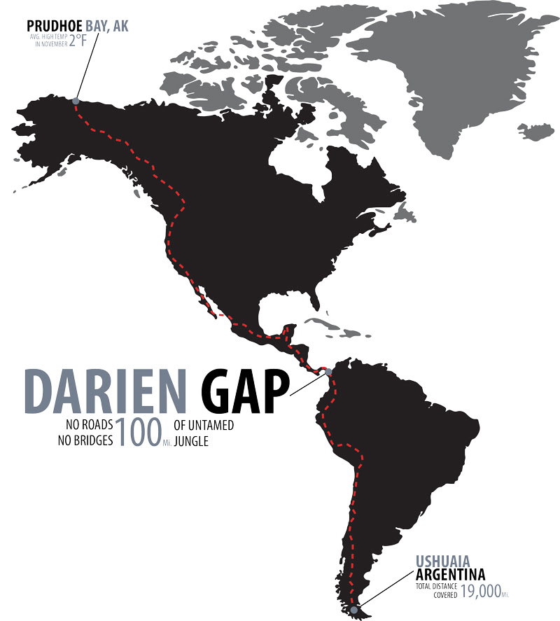 Alaska to Argentina via Darien Gap