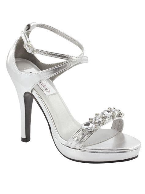 Silver Glitter Heels 4 Inch   Is Heel