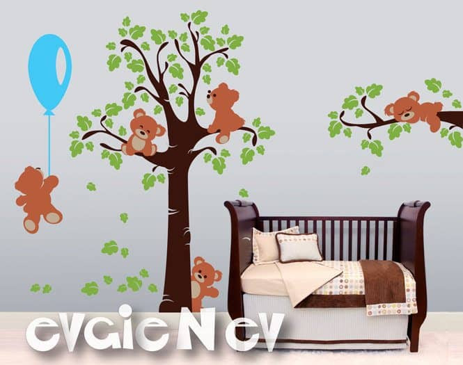 Teddy Bears Wall Stickers