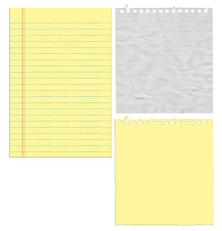 Free Vectors: Paper/Notepads