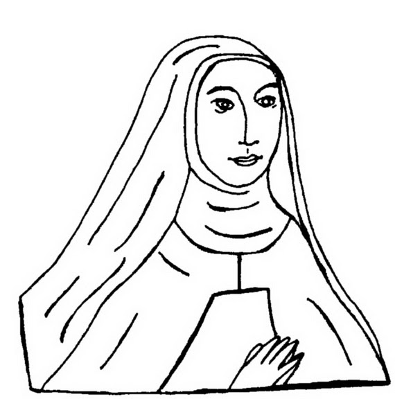 Catholic saints coloring pages - timeless-miracle.com | 576x570