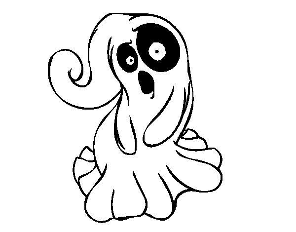 Dibujo De Fantasma Tenebroso Para Colorear Dibujos Para Colorear