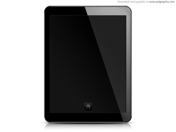 blank screen black. Tablet PC, lank screen PSD