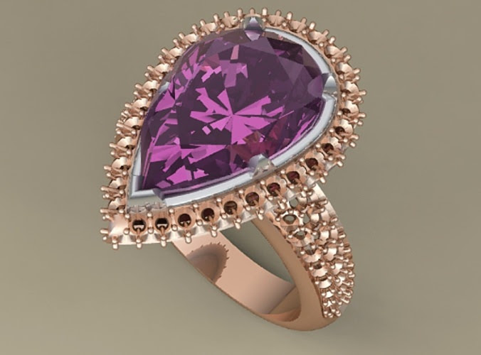 Ring with big gem