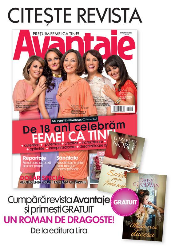 Promo pentru revista Avantaje, editia Octombrie 2013