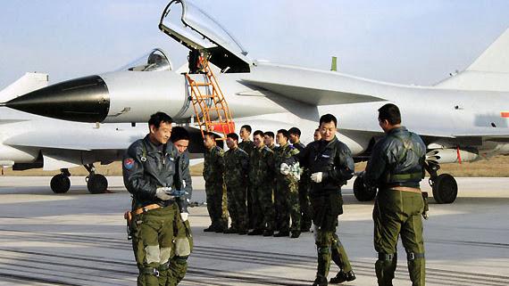 中国空军飞行员,示意图