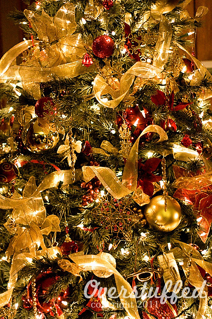 overstuffed tree - How To Put Ribbon On A Christmas Tree