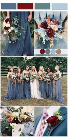 Actual Wedding Color Palette: Marsala, blush rose gold