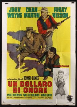 Rio Bravo Italian 4F movie poster (R1968-1959)