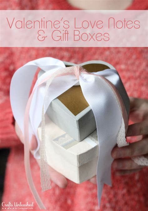 Love Notes & DIY Gift Box Craft for Your Valentine!