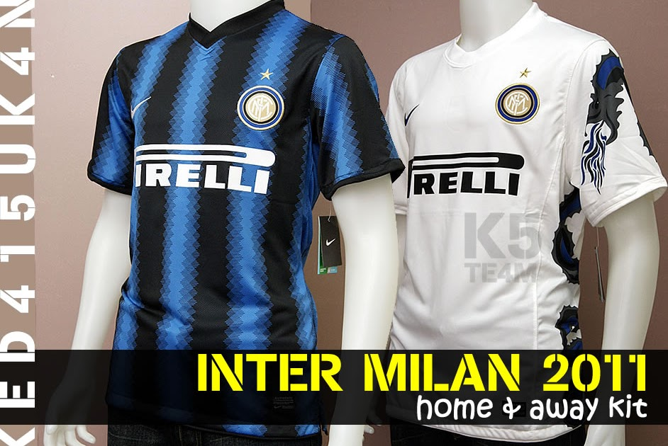 sports shoes 2c2bd ef3e0 Worldwide Sports Soccer Jersey: Inter Milan 2011 Home and ...