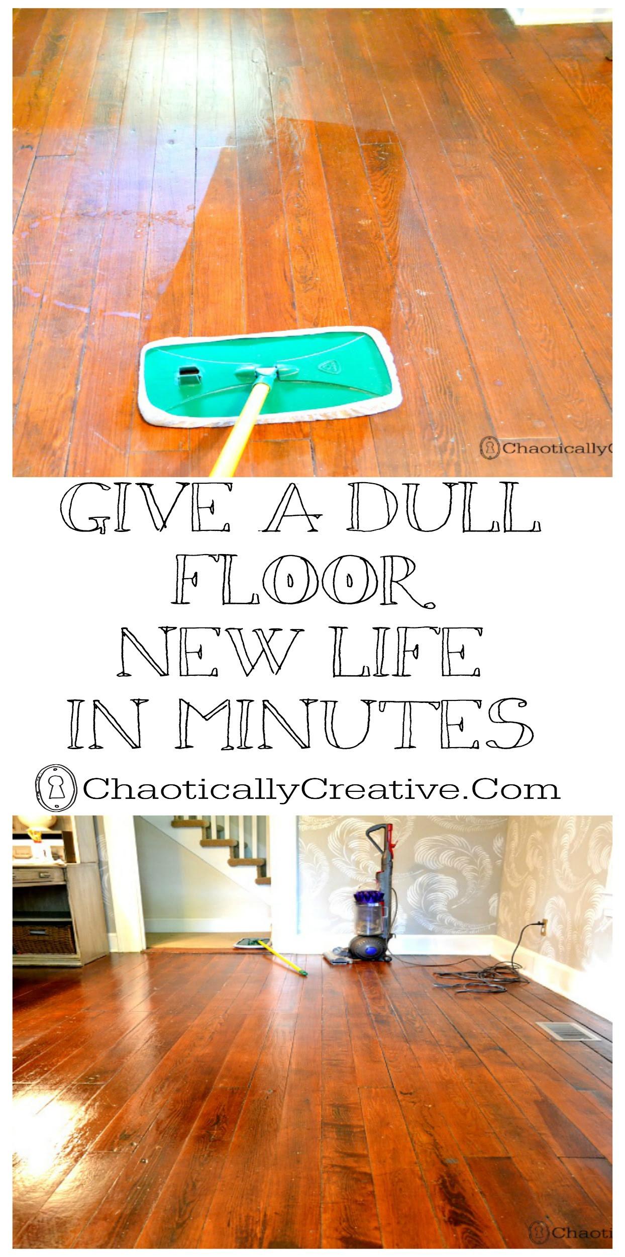Dull floor new life in seconds