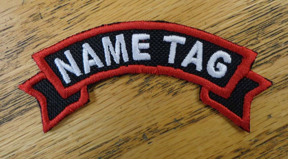 Custom Embroidered Motorcycle Ribbon Name Officer Tag Biker Patch MC Club Patch  eBay