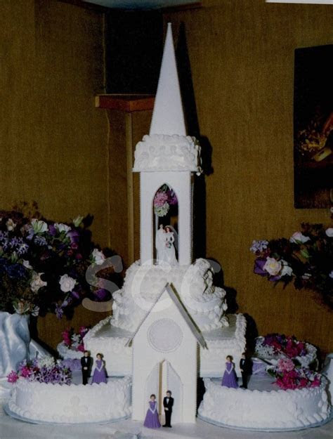 Cathedral Wedding Cake   CakeCentral.com