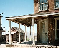 The street corner of the hotel and blacksmith shed. Photo copyright 2003-2004 Donna Durrett, all rights reserved.
