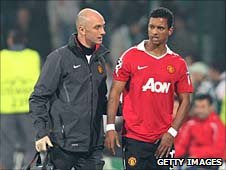 Nani limps off against Bursaspor