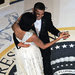 President Obama and the first lady Michelle Obama at the Commander-in-Chief's Ball, Jan. 20, 2009.
