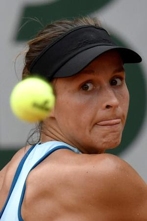 Germany's Tatjana Maria in action against Alize …