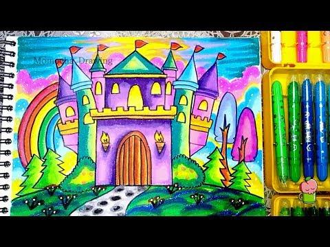 Cara Menggambar Dan Mewarnai Istana Tips Menggambar Bagus Gradasi