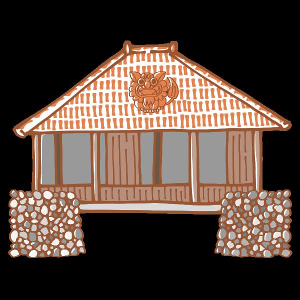 沖縄のおうちのイラスト かわいいフリー素材が無料のイラストレイン
