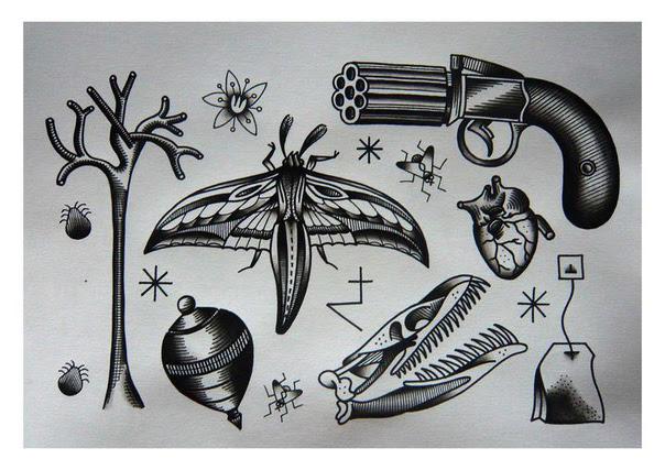 Old School Mash Up Tattoo Sketches Best Tattoo Ideas Gallery