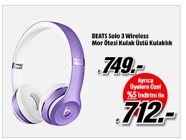 BEATS Solo 3 Wireless Mor Ötesi Kulak Üstü Kulaklık 712TL