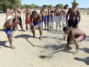 Marãiwatsédé Índios (Foto: Reprodução/TVCA)