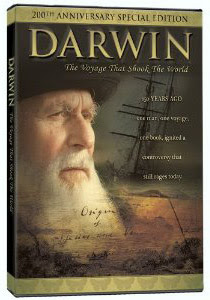 DVD cover from Darwin: The Voyage that Shook the World, copyright © 2009 Con Dios Entertainment Pty Ltd and Fathom Media. All rights reserved.