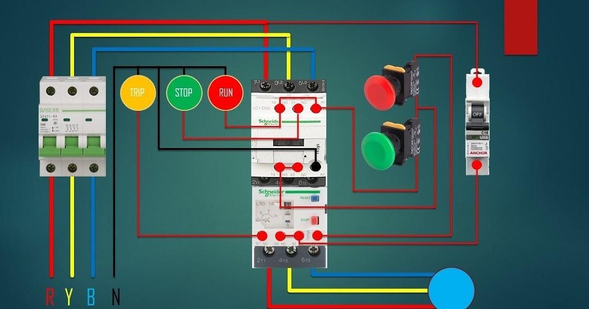 Dol Starter Wiring Diagram For 3 Phase