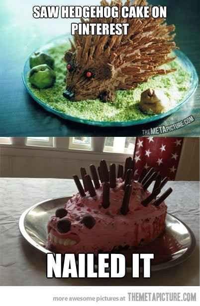 28. Hedgehog Cake | 31 Horrendous Pinterest Fail Monstrosities