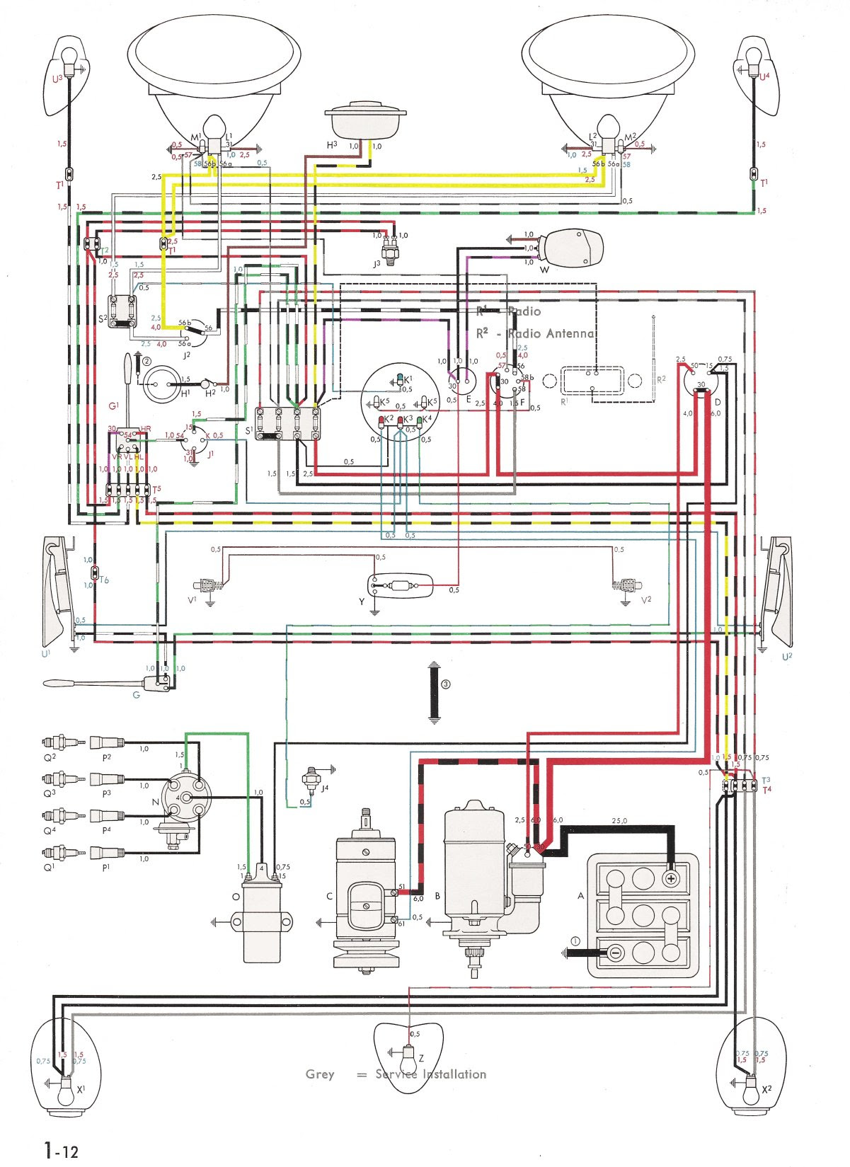 65 vw speedometer wiring diagram image 5