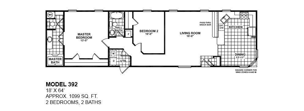 Lovely Single Wide Mobile Home Floor Plans 2 Bedroom - New ...