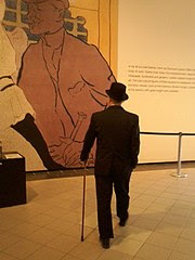 Tom Worthington at Toulouse-Lautrec: Paris and the Moulin Rouge Exhibition at National Gallery of Australia in Canberra