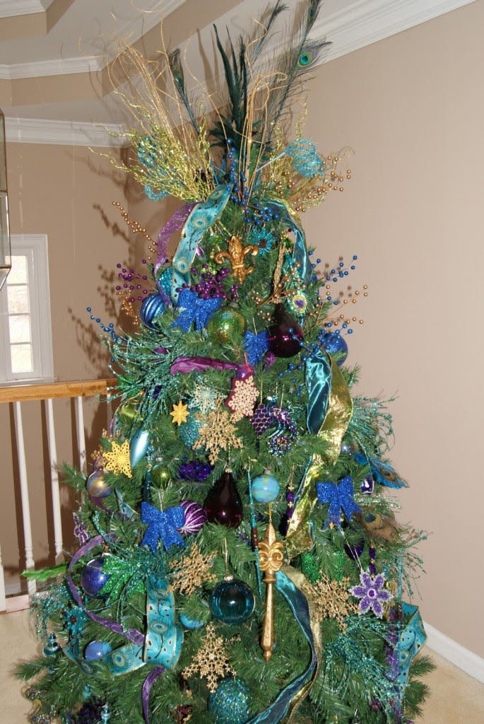 How To Make A Gorgeous Peacock Christmas Tree Time For The Holidays