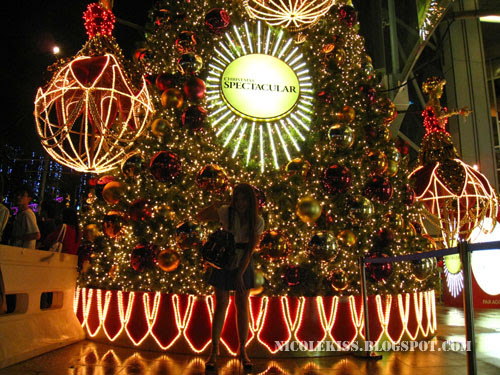 me and christmas tree in orchard road