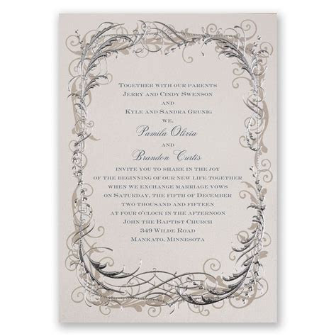 Vintage Shine   Invitation   Affordable wedding