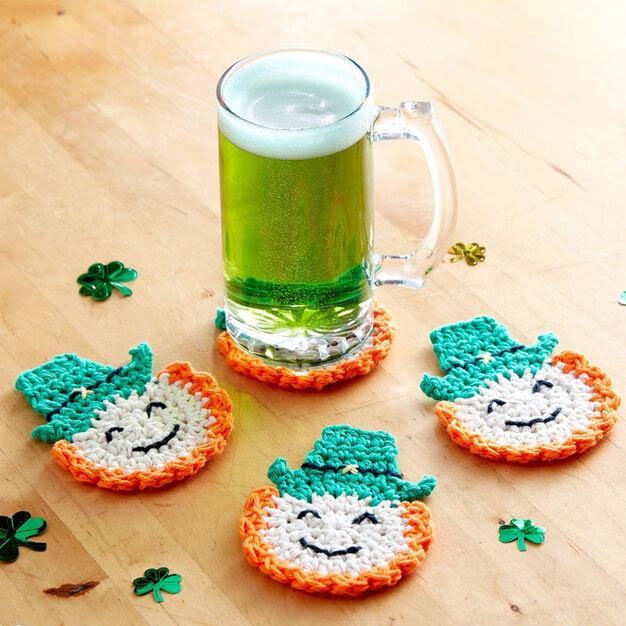 Lily Sugar'n Cream Luck of the Irish Crochet Coasters