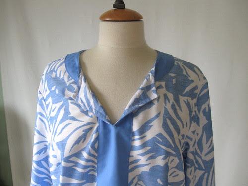 blue tunic inside neckline