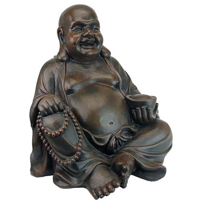 Design Toscano 19 In H X 18 5 In W Buddha Garden Statue In The Garden Statues Department At Lowes Com