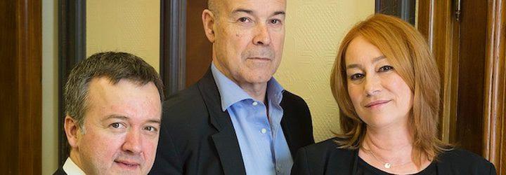 Antonio Resines, Gracia Querejeta y Edmon Roch