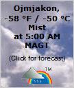 -58 °F  / -50 °C