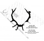 Antler Rack No.4 Silhouette Woodworking Pattern - fee plans from WoodworkersWorkshop® Online Store - antlers,silhouettes,shadow art,animals,yard art,drawings,plywood,plywoodworking plans,woodworkers projects,workshop blueprints