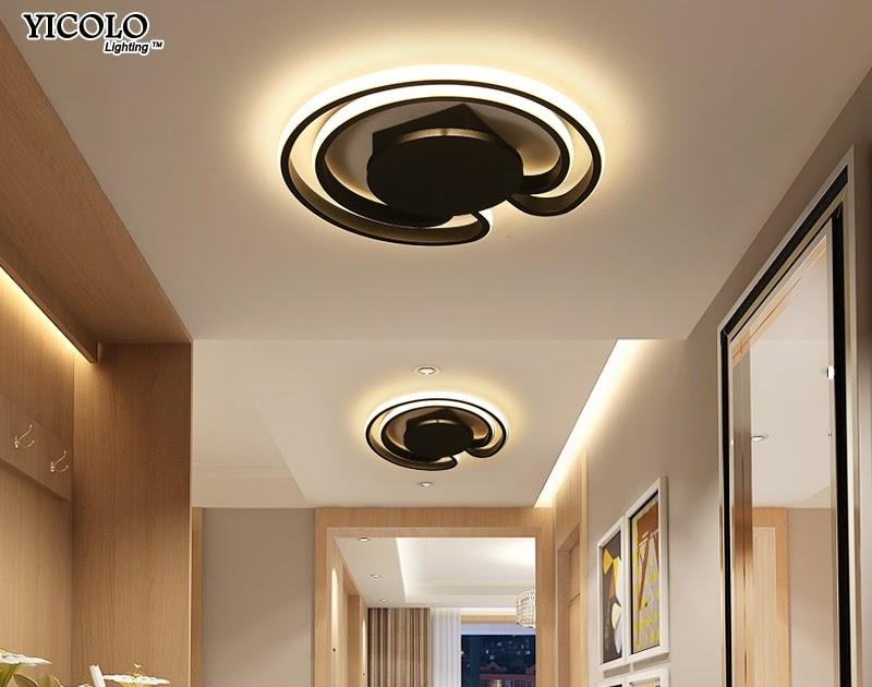 Kopen goedkoop ronde wit zwart frame moderne led plafondlamp ac